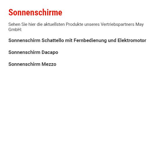 Sonnenschirme für 74385 Pleidelsheim